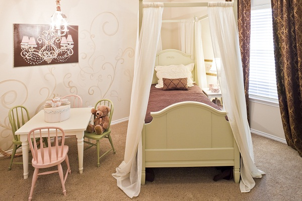 Betenbough Homes Lubbock New Home Center Little Girl's Room Before
