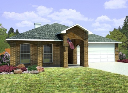 Betenbough Homes Brandi Floor Plan Front View