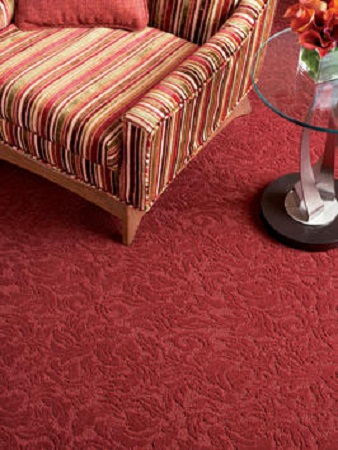 Victorian Carpet Red