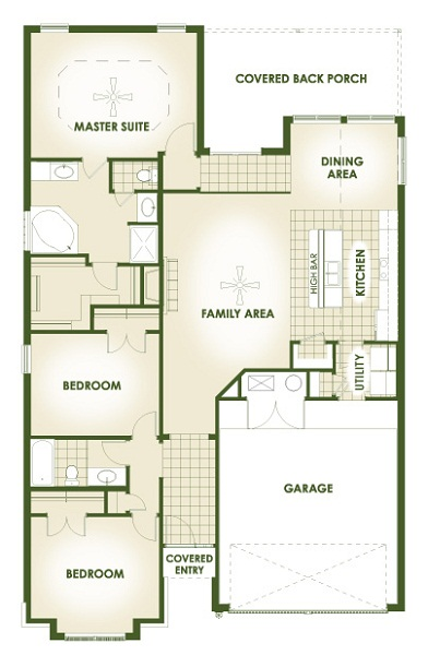 july edition most popular floor plan house made home - Beautiful House Plans