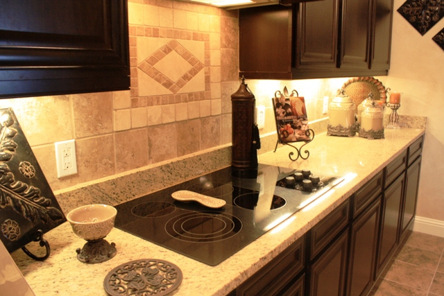 Ceramic Medallion Backsplash Betenbough Homes