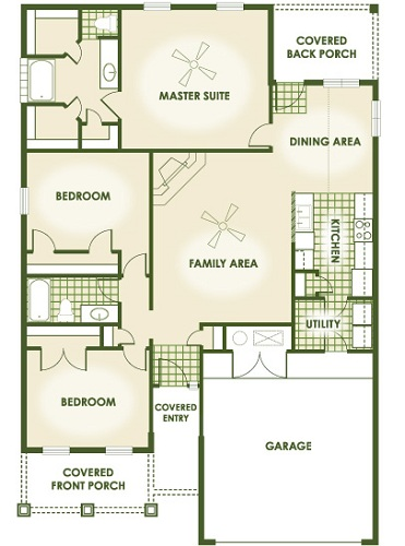 Betenbough Homes Kori Floor Plan 1600 Square Foot House Lubbock