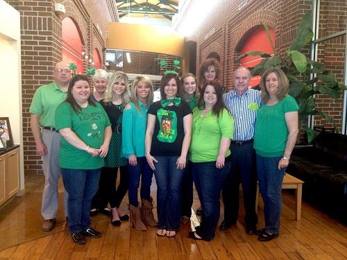 St. Patricks Day 2013-Employees wearing green 500 pixels