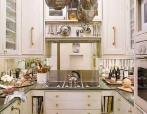 mirror behind stove