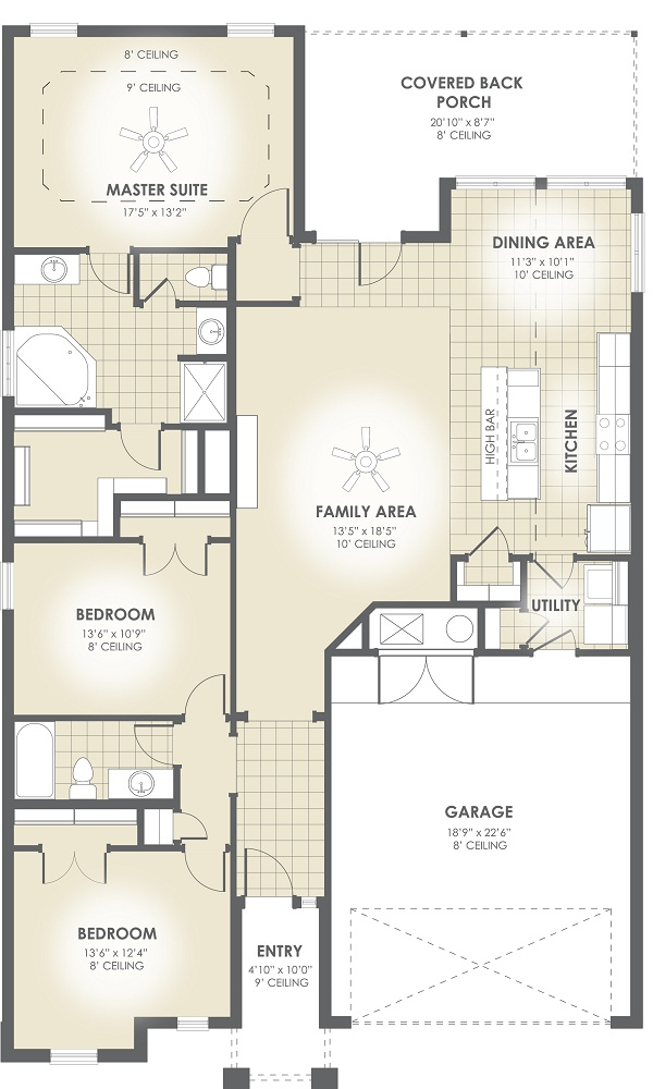 our new christine floor plan features an open concept