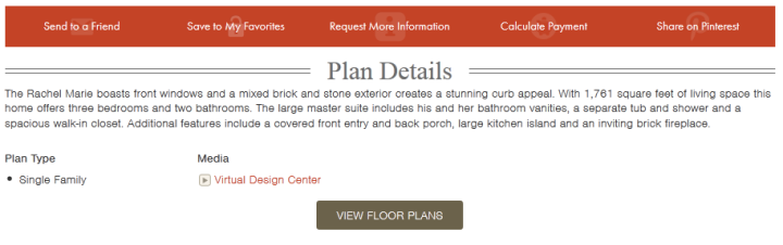"Click on the ""Virtual Design Center"" link to access this home's interactive floor plan."