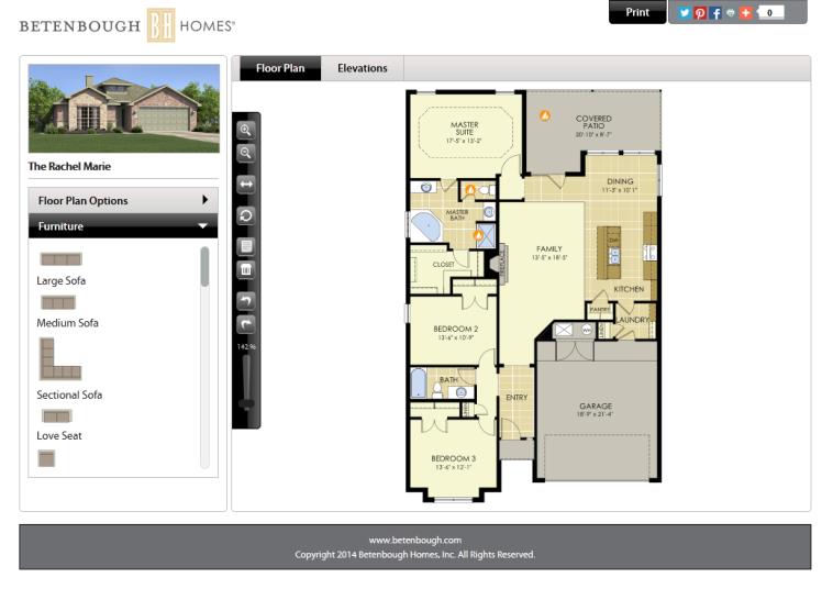 Rachel Marie Interactive Floor Plan