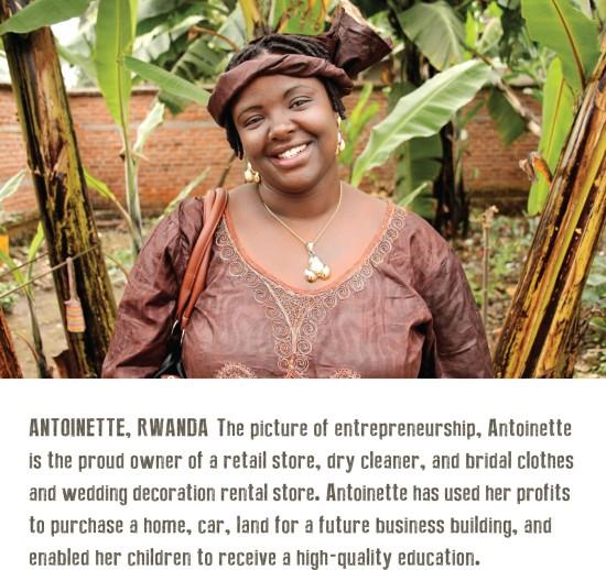Antoinette, HOPE international loan recipient