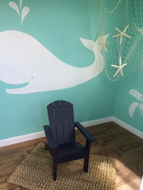 playhouse interior - whale