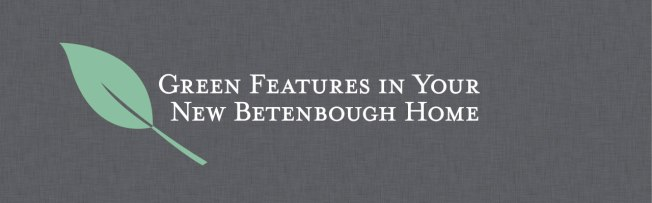 Betenbough Homes Green Features