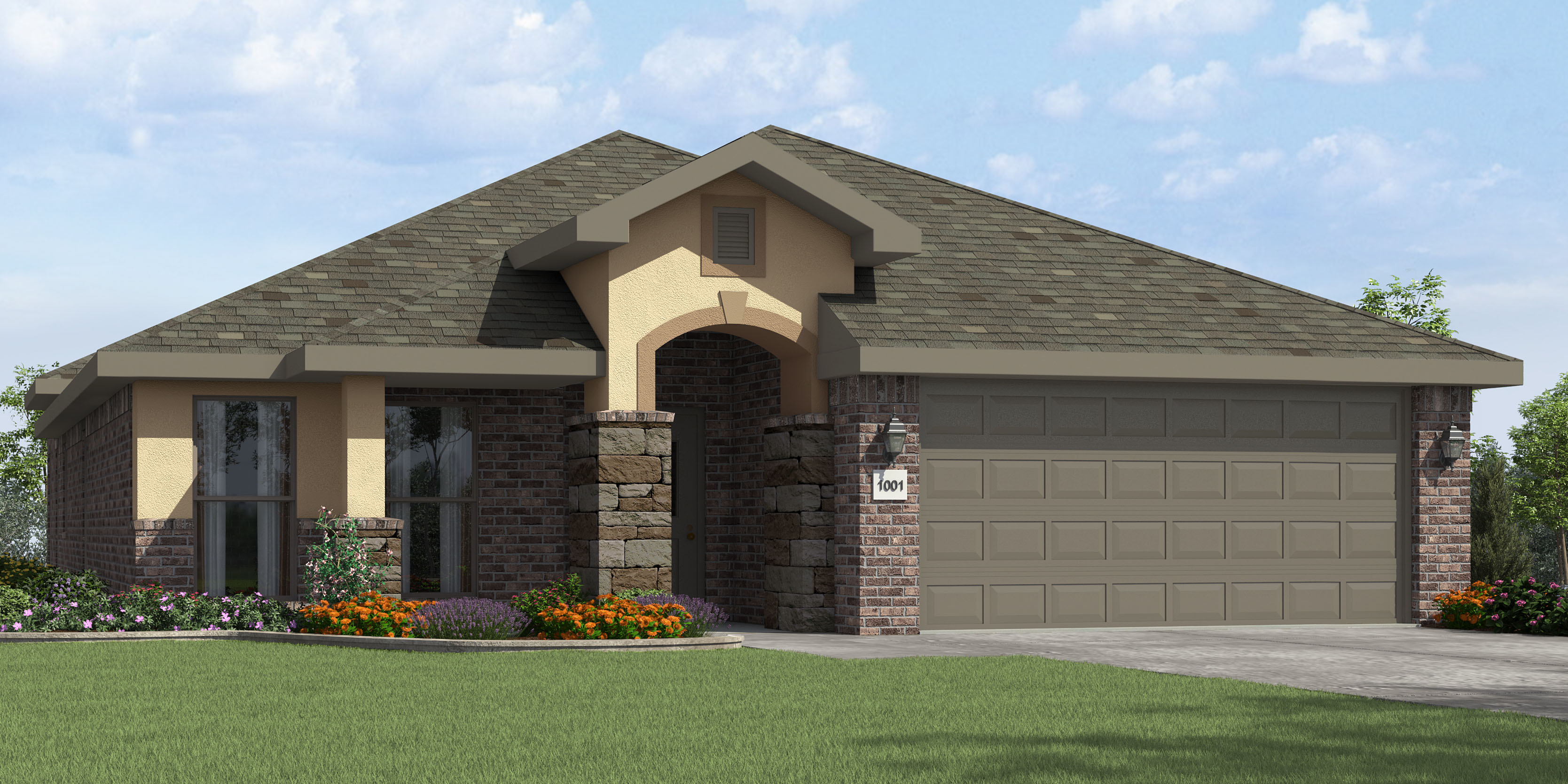 September s most popular floor plan house made home for Stucco home plans