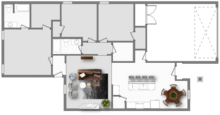 living room furniture plan. Both Of These Layouts Create A Focal Point In The Living Room, Perfect For Conversation With Family Or Friends Watching TV. Placing Ottomans Between Room Furniture Plan