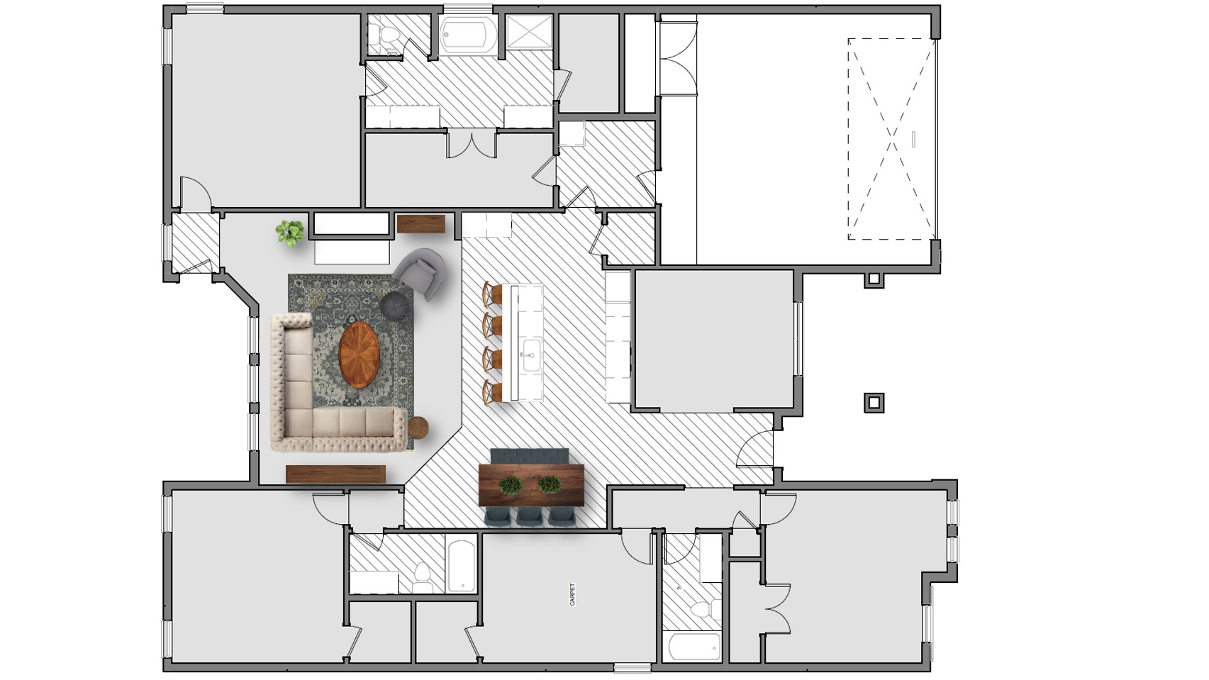 Living Room Furniture Layout 2 500 2 600 Plans House